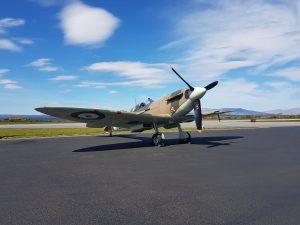 G-MKVB Spitfire at Oban